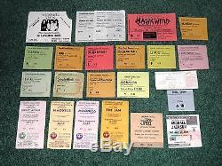 100+ USED CONCERT TICKET STUBS! MASSIVE COLLECTION 1970s-2000s LOTS OF RARITIES