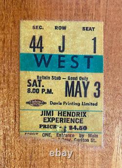 1960s -70s Authentic Rock Concert Ticket Stub Display Jimi Hendrix Supertramp ++