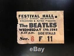 1964 Beatles Melbourne Concert Ticket Stub