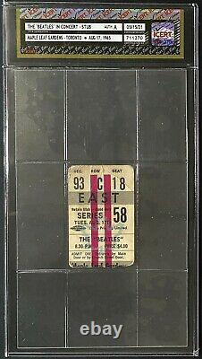 1965 Vintage Beatles Concert Ticket Stub Maple Leaf Gardens Authenticated