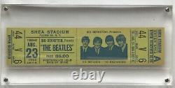 1966 Beatles At Shea Stadium Concert Full Ticket 8/23/1966 Mint
