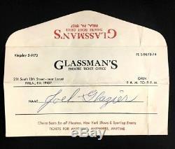 1966 Beatles Concert Ticket Stub + Mailer U. S. Tour JFK Stadium Philadelphia