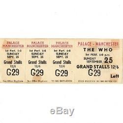 1966 THE WHO Full Concert Ticket MANCHESTER PALACE 9/25/66 Not Stub HAPPY JACK