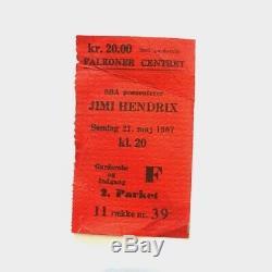 1967 Jimi Hendrix Concert Ticket Stub
