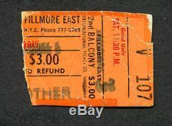 1968 Big Brother Janis Joplin concert ticket stub Fillmore East Bill Graham