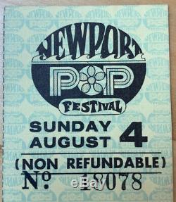 1968 NEWPORT POP Festival Grateful Dead Concert Ticket Stub 8/4 Costa Mesa CA