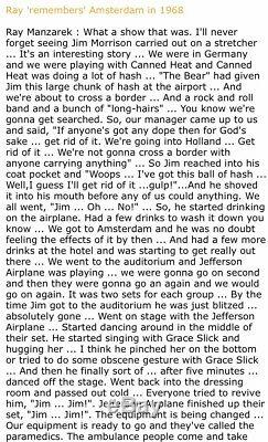 1968 The Doors / Jefferson Airplane Amsterdam Concert Ticket Stub Jim Morrison