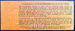 1969 WOODSTOCK Music + Art Fair Concert Festival Full Ticket Unused Saturday