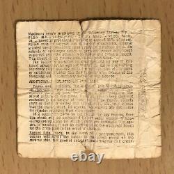 1970 The Doors Long Beach Concert Ticket Stub Jim Morrison Gram Parson The End L