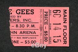 1971 Bee Gees Concert Ticket Stub Columbus OH Trafalgar Tour How Can You Mend