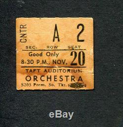 1971 Pink Floyd concert ticket stub Meddle Tour Taft Auditorium Cincinnati OH