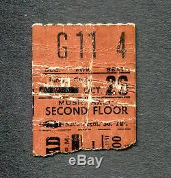 1972 Grateful Dead Jerry Garcia Concert Ticket Stub Cincinnati Skull and Roses