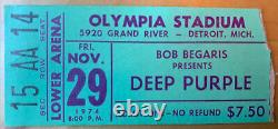 1974 DEEP PURPLE ELO ELF Dio Olympia Stadium Detroit MI Concert TICKET STUB 1129