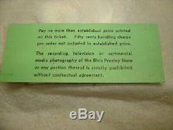 1974 Elvis Presley Concert Full Ticket Not Stub 10/6/74 Dayton Ohio UD ARENA