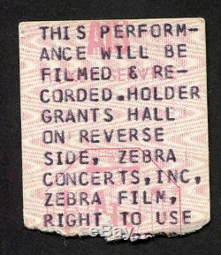 1975 Bob Dylan Rolling Thunder Revue concert ticket stub Springfield MA Desire