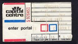 1975 Kiss ZZ Top concert ticket stub Landover MD Hotter Than Hell Tres Hombre
