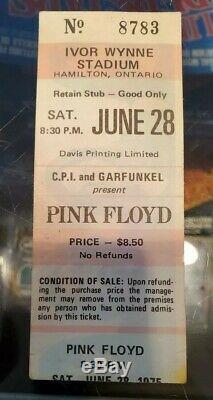1975 PINK FLOYD Hamilton Ivor Wynee Stadium UNUSED Vintage Concert Ticket Stub