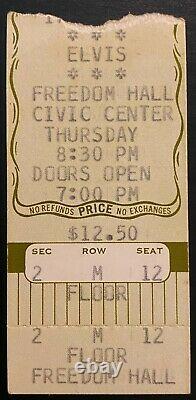 1976 Elvis Presley Original Tennessee Concert Ticket Stub Vintage Music LOA
