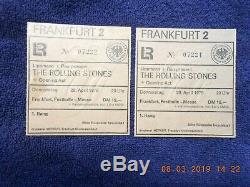 1976 RARE Original Rolling Stones Concert Ticket Stubs Frankfurt Germany