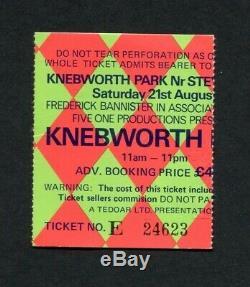 1976 Rolling Stones Lynyrd Skynyrd 10cc Concert Ticket Stub Knebworth England