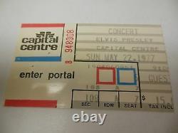 1977 Elvis Presley Concert Ticket Stub Capital Centre Landover MD Cool Rare