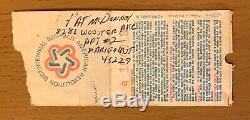 1977 Led Zeppelin Cincinnati Concert Ticket Stub Robert Plant Jimmy Page Bonham