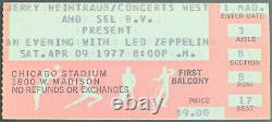 1977 Led Zeppelin Concert Ticket Stub Chicago Stadium Jimmy Page Canceled Midway