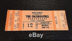 1978 Rolling Stones Concert Ticket Stub Atlanta Fox Theatre The Cockroaches