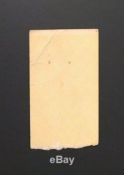 1980 The Clash Very Rare Concert Ticket Stub Jackie Wilson Motor City