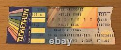 1983 Motley Crue Shout At The Devil Tour Mcallen Texas Concert Ticket Stub Sixx