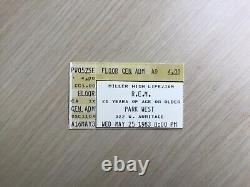 1983 R. E. M. Concert Ticket Stub Park West Chicago Club Date