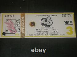 1983 Us Festival Concert Ticket Stubrock Daydavid Bowieu2pretendersrare
