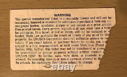 1983 Us Festival Metal Day Concert Ticket Stub Van Halen Motley Crue Scorpions