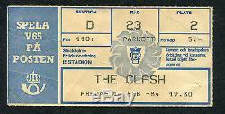 1984 The Clash Concert Ticket Stub Ice Stadium Stockholm Sweden London Calling