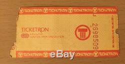 1985 Madonna Beastie Boys Washington D. C. Concert Ticket Stub Like A Virgin Tour