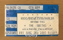 1985 The Smiths Hollywood Palladium Concert Ticket Stub Meat Is Murder Morrissey