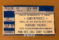 1987 Guns N' Roses Perkins Palace Pasadena Appetite Tour Concert Ticket Stub 28