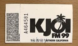 1988 Guns N' Roses Appetite Tour Anaheim Concert Ticket Stub Axl Rose Slash Gnr