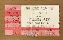 1989 LL Cool J / N. W. A. / Eazy-e Nitro Tour St. Louis Concert Ticket Stub Nwa
