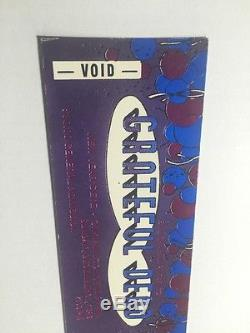 1989 NEW YEARS EVE BILL GRAHAM THE GRATEFUL DEAD CONCERT TICKET VINTAGE STUBS