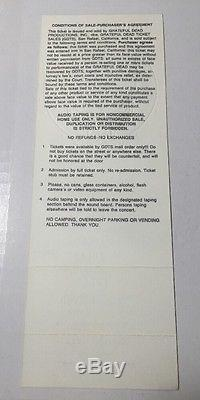 1990 NEW YEARS EVE BILL GRAHAM THE GRATEFUL DEAD CONCERT TICKET VINTAGE STUBS