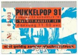 1991 NIRVANA, RAMONES Pukkelpop concert ticket stub Hasselt Belgium 8/25/91
