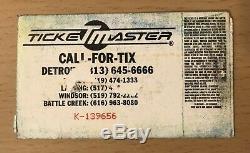 1991 Nirvana Chicago Concert Ticket Stub Kurt Cobain Dave Grohl Nevermind Tour
