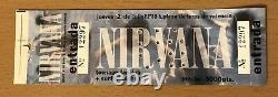 1992 Nirvana Nevermind Tour Valencia Spain Concert Ticket Stub Kurt Cobain