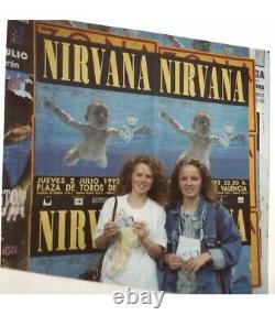 1992 Nirvana Nevermind Tour Valencia Spain Concert Ticket Stub Kurt Cobain 07428