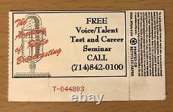 1992 Sonic Youth Mudhoney Kurt Cobain Castaic Lake Concert Ticket Stub Nirvana 2