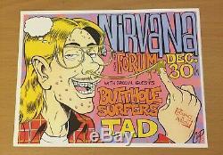 1993 Nirvana Los Angeles Concert Ticket Stub Plus Repro Handbill Kurt Cobain 712