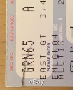 1993 Nirvana Toronto Concert Ticket Stub Kurt Cobain Dave Grohl In Utero Blew