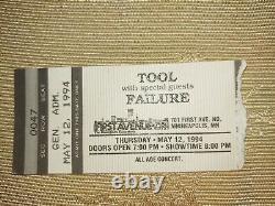 1994 Tool Concert Ticket Stub First Avenue, Minneapolis, MN