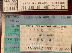 1998 JOHN CALE/CREATURES NOHOW TOUR vtg concert tour t-shirt (L)+4TICKET STUBS